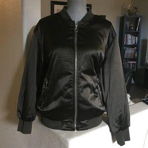 Women's Green bomber jacket large coat